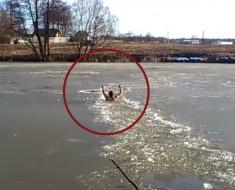 rescate en aguas congeladas - portada